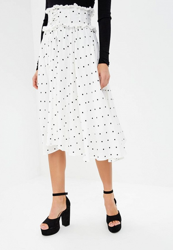 Юбка LOST INK POLKA DOT LACE UP DETAIL MIDI