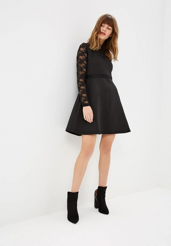 Платье LOST INK Trim and Lace Scuba Fit & Flare Dress