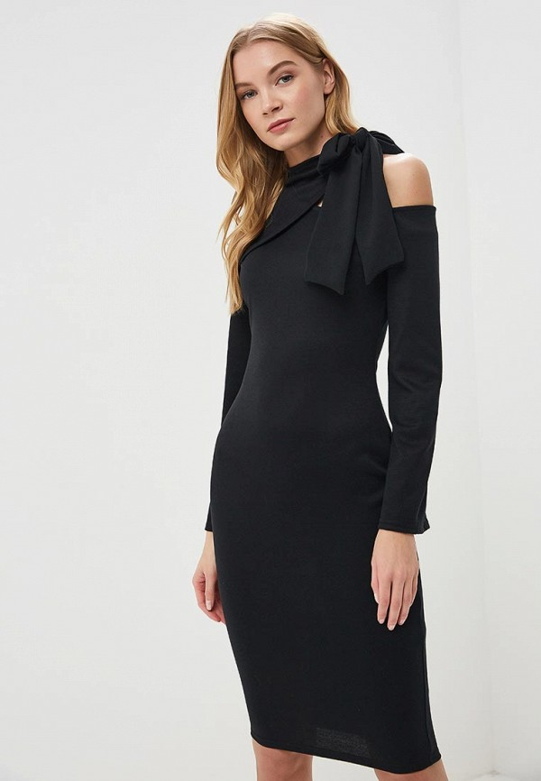 Платье Lost Ink CUT OUT SHOULDER BODYCON DRESS TIE NECK