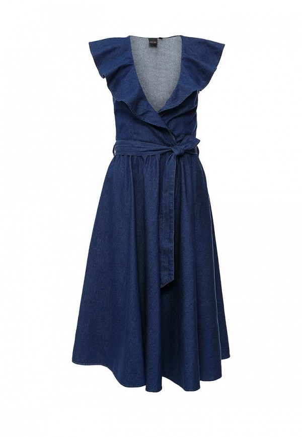 Платье джинсовое Lost Ink AMELIE FRILL COLLAR DENIM DRESS