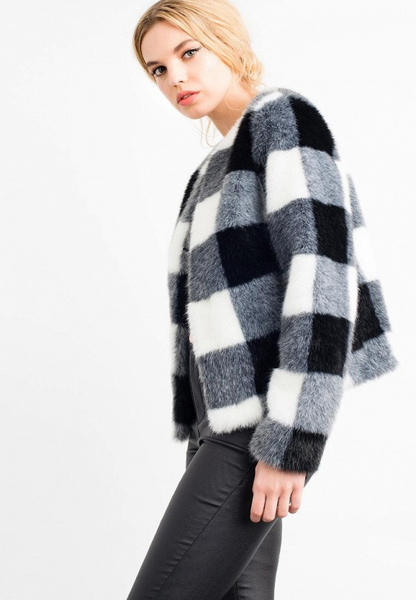 Шуба Lost Ink GINGHAM CHECK FUR JACKET