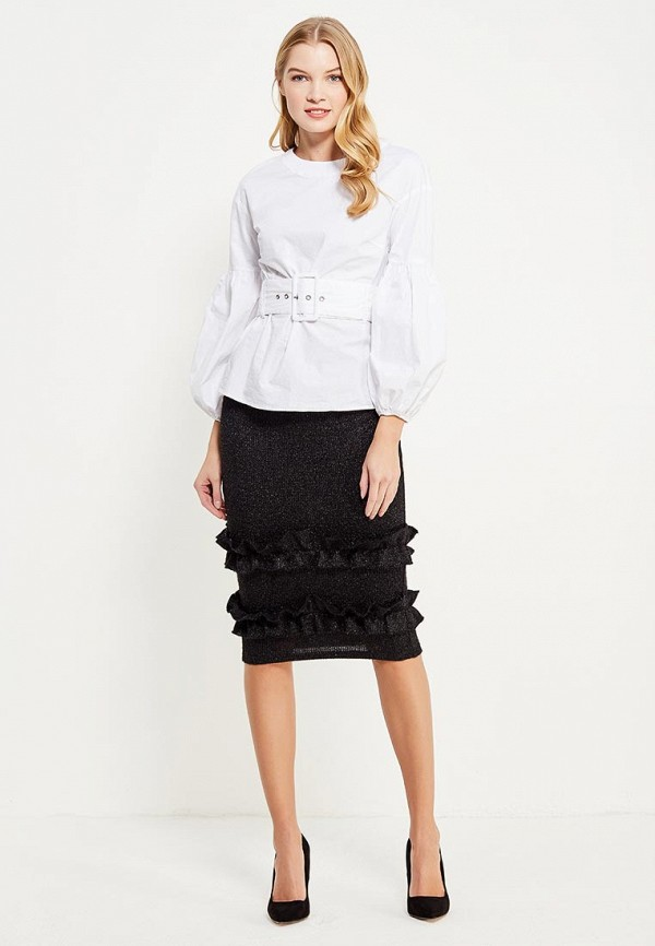 Юбка Lost Ink TINSEL FRILL HEM PENCIL SKIRT