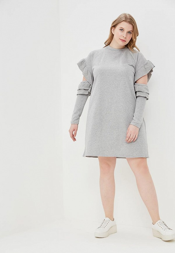 Платье LOST INK PLUS SWEAT DRESS WITH RUFFLE OPEN SLEEVES
