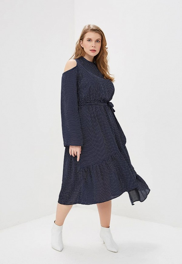 Платье LOST INK PLUS FIT & FLARE DRESS IN POLKA DOT