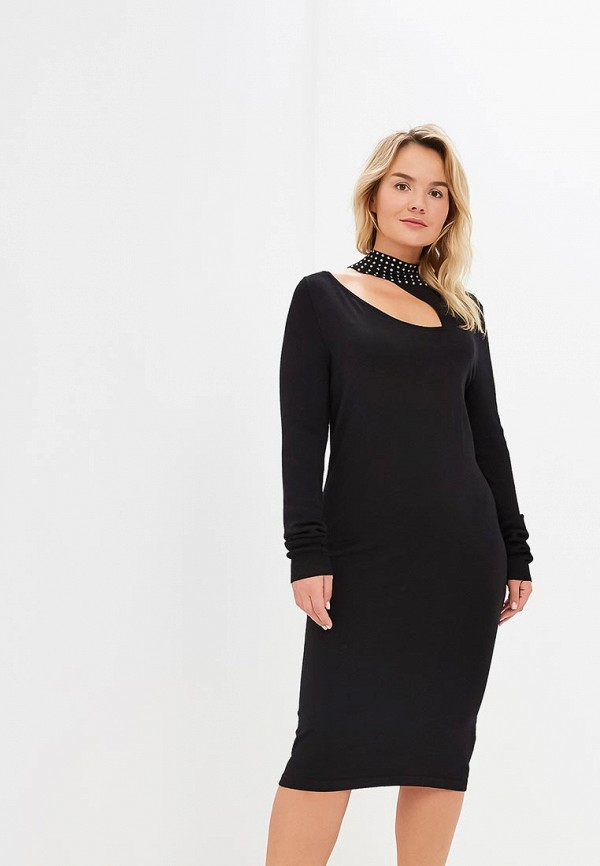 Платье Lost Ink Plus KNITTED BODYCON DRESS WITH STUDS