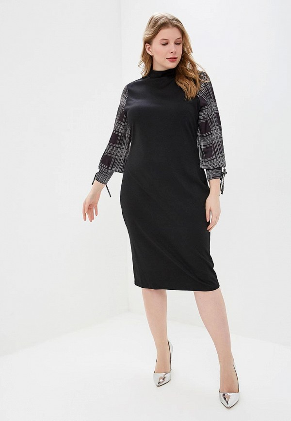 Платье LOST INK PLUS BODYCON DRESS WITH WOVEN SLEEVE