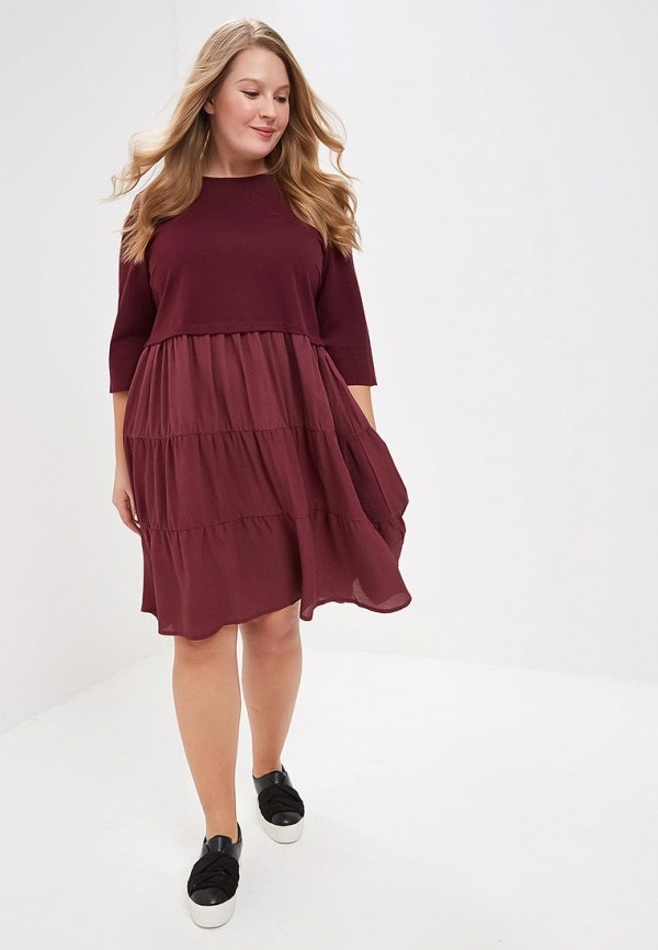 Платье LOST INK PLUS SWING DRESS WITH WOVEN HEM
