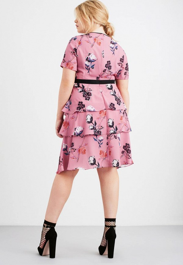 Платье LOST INK PLUS TIERED HEM DRESS IN PRETTY BOTANICAL PRINT