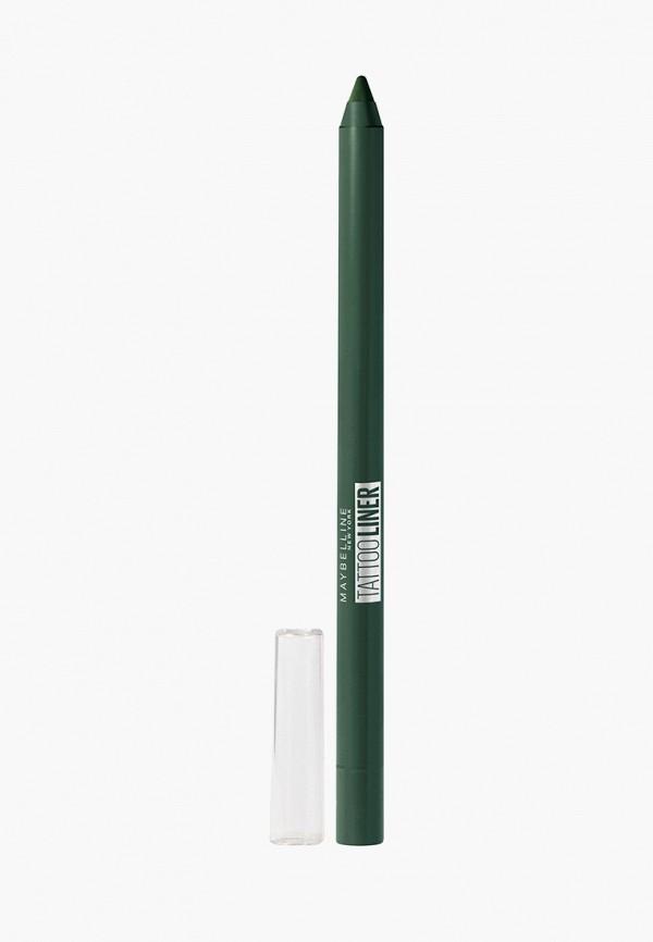 Maybelline New York Карандаш для глаз TATOO LINER интенсивный цвет, гелевый, оттенок 932, изумрудный, 1.3 г