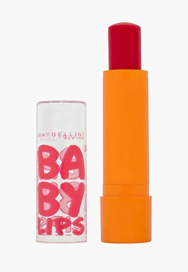 "Maybelline New York Бальзам для губ ""Baby Lips, Вишня"", восстанавливающий и увлажняющий, с легким красным оттенком и запахом, 1,78 мл"