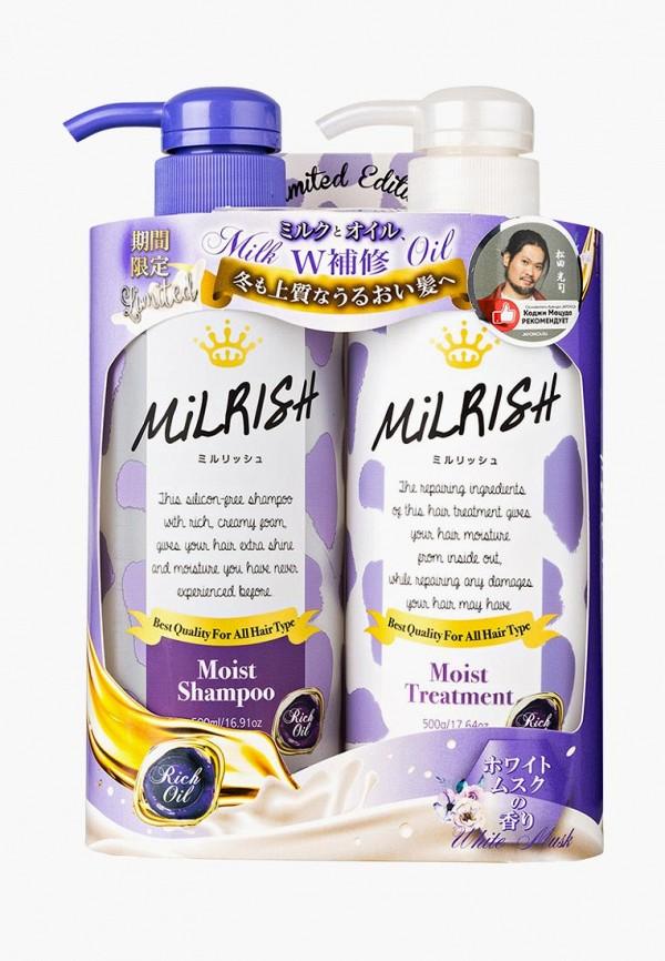 Milrish Набор для ухода за волосами Шампунь и Кондиционер с натуральными маслами Увлажнение и Восстановление 1 шт