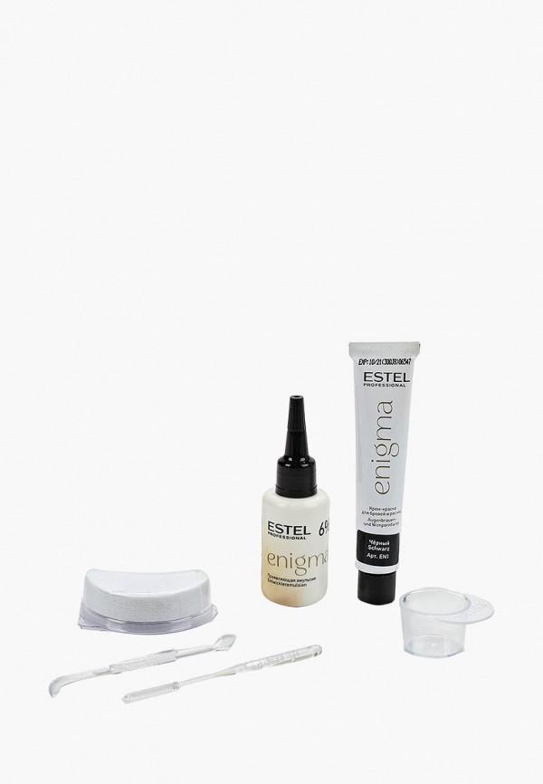 Estel Комплект ENIGMA для окрашивания бровей и ресниц ESTEL PROFESSIONAL черный 2*20 мл