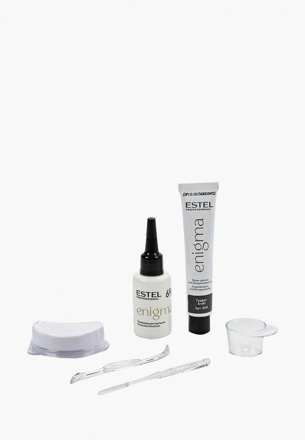 Estel Комплект ENIGMA для окрашивания бровей и ресниц ESTEL PROFESSIONAL графит 2*20 мл
