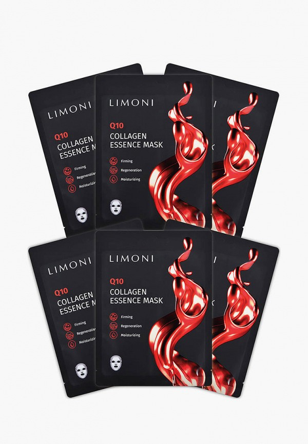Набор масок для лица Limoni антивозрастных с коэнзимом Q10 и COLLAGEN, 6 шт. за 425 ₽. в интернет-магазине Lamoda.ru