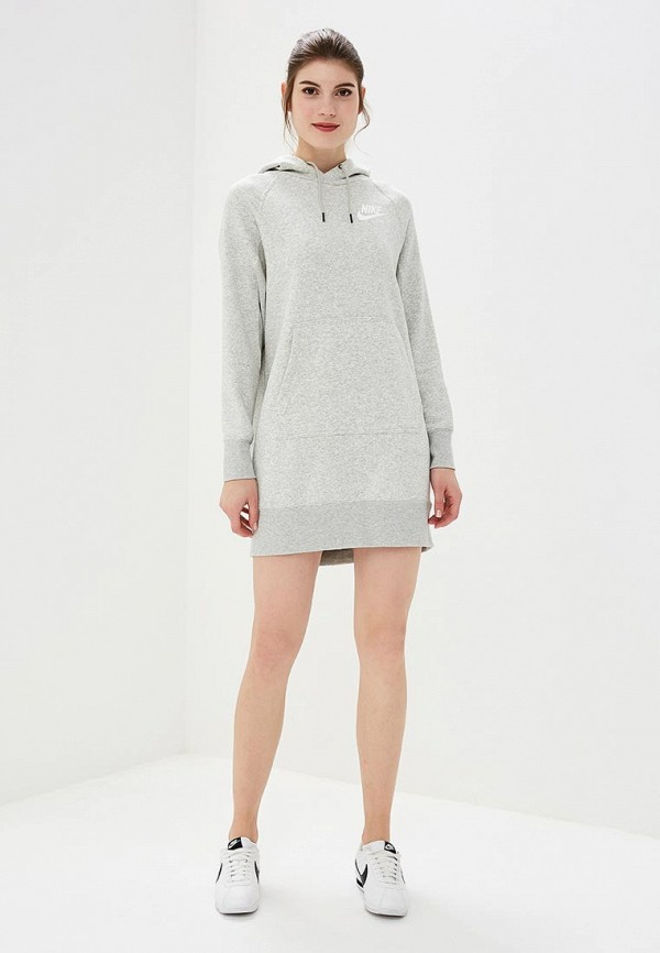 Платье Nike W NSW RALLY HOODIE DRESS RIB