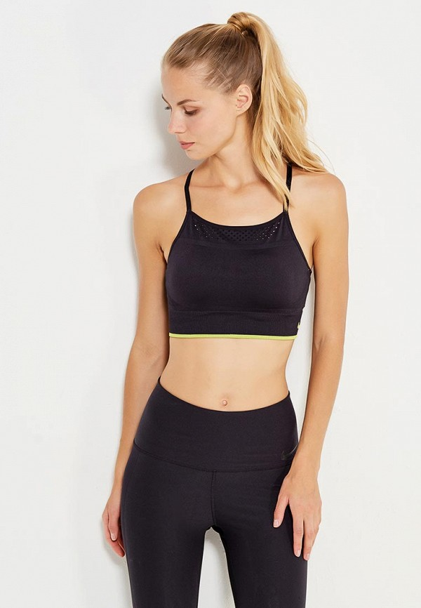 Топ спортивный Nike NEW SEAMLESS BRALETTE TIPPED