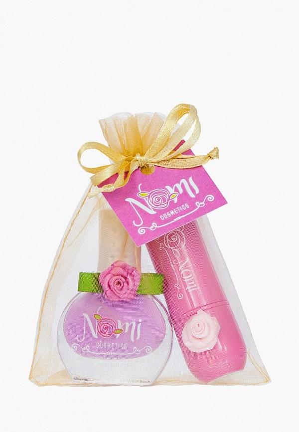 """Nomi Набор косметики Лак для ногтей №26, Детский бальзам для губ """"Bubble gum"""""""