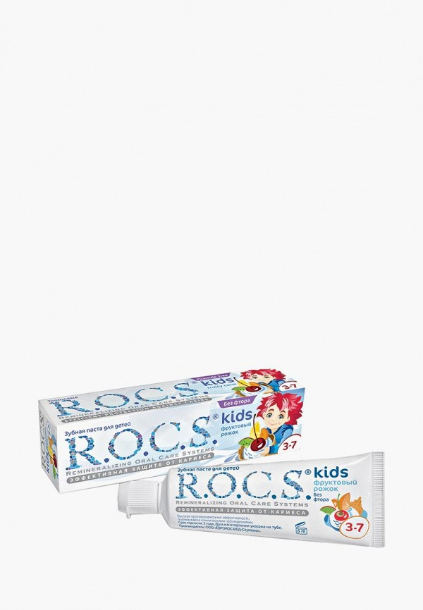 R.O.C.S. Зубная паста для детей, Фруктовый рожок, без фтора, 45 гр