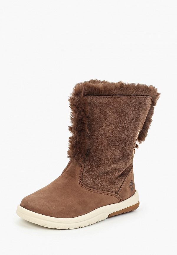 Сапоги Timberland Toddle Tracks Faux Shearling Bootie POTTING SOIL