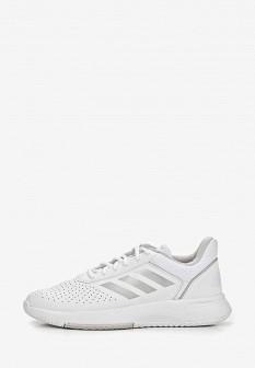 Женские белые кожаные кроссовки