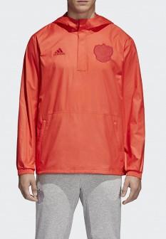 Мужская красная ветровка Adidas