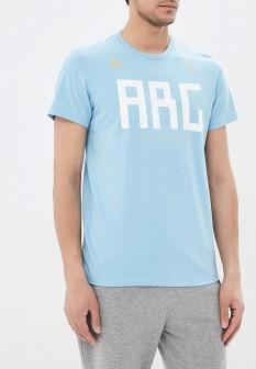 Мужская голубая футболка Adidas