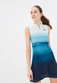 Бирюзовое синее платье