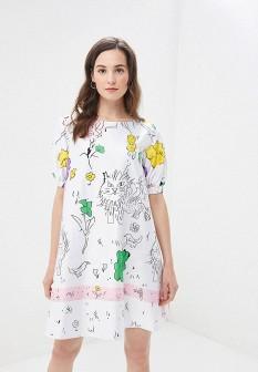 Белое осеннее платье