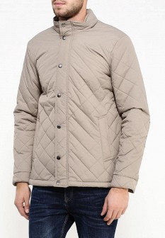 Мужская бежевая утепленная осенняя куртка