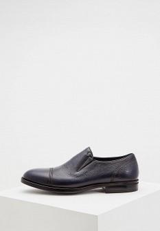 Мужские синие итальянские осенние туфли лоферы