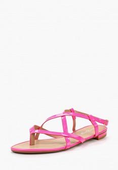 Женские розовые осенние кожаные сандалии