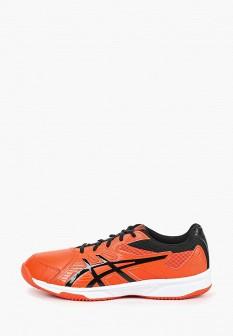 Мужские оранжевые кожаные кроссовки