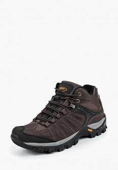 Мужские коричневые осенние кожаные трекинговые ботинки