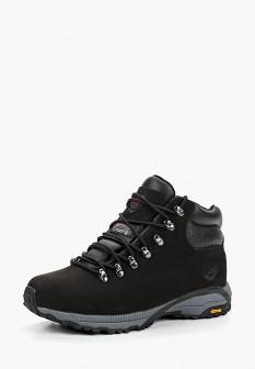 Мужские черные осенние трекинговые ботинки из нубука