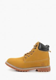 Мужские желтые осенние кожаные ботинки