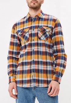 Мужская оранжевая осенняя рубашка