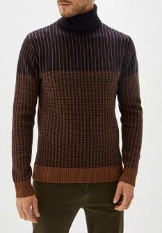 Мужской коричневый осенний свитер
