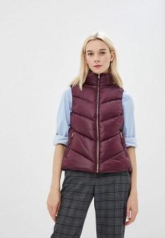 Женский фиолетовый осенний утепленный жилет