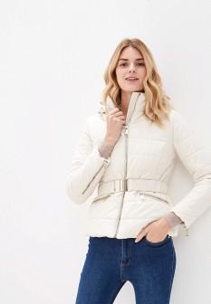 Женская белая осенняя куртка