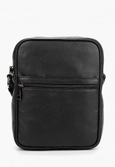 Мужская черная итальянская осенняя кожаная сумка