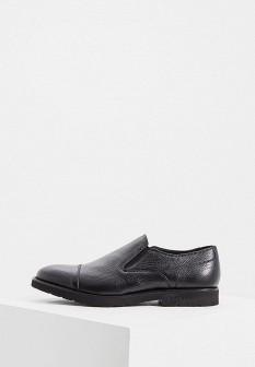 Мужские черные итальянские кожаные туфли лоферы