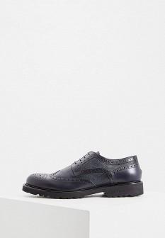 Мужские синие итальянские осенние кожаные туфли