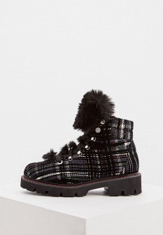 Женские черные итальянские осенние ботинки