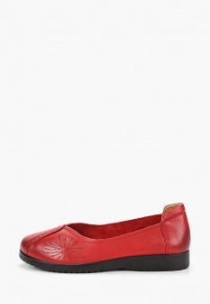 Женские красные кожаные туфли