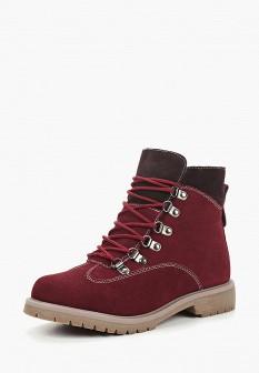 Женские бордовые осенние ботинки