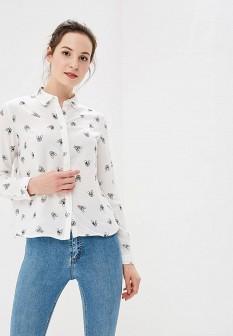 Женская белая осенняя рубашка