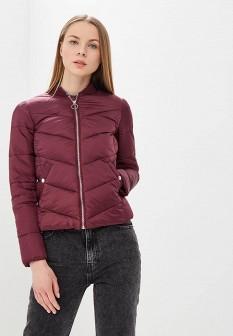 Женская бордовая осенняя куртка