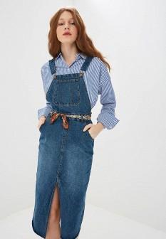 Синее джинсовое платье Befree