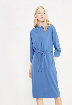 Синее осеннее платье Befree