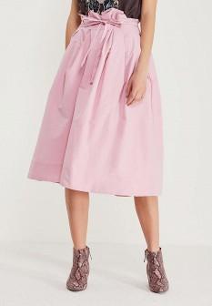 Розовая осенняя юбка